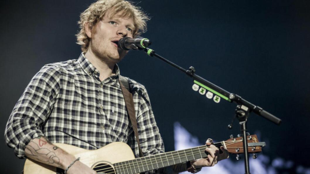 <strong>SAKTSØKT FOR PLAGIAT:</strong> Ed Sheerans låt «Photograph» blir nå saksøkt for å ha plagiert en låt fra 2009. Det kommer fram i rettsdokumenter fra partene som gikk til søksmål. Foto: NTB Scanpix