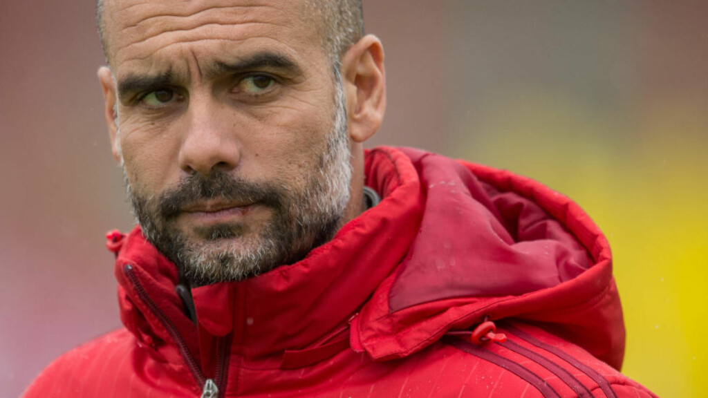 KLAR FOR PREMIER LEAGUE:  Pep Guardiola skal tar over Manchester City fra og med sommeren. Foto: Matthias Balk