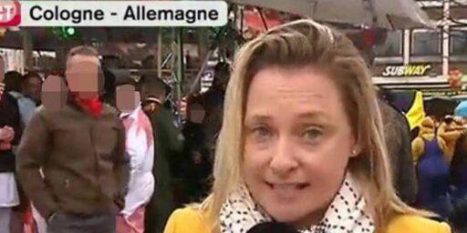 image: Kvinnelig journalist ble befølt på brystene under livesending fra karnevalet i Köln