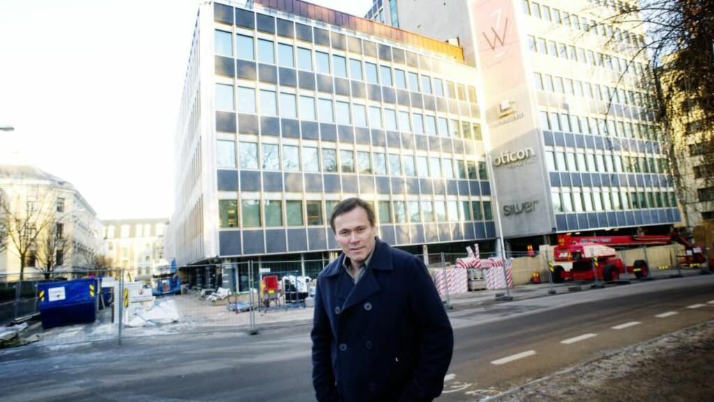 Atle Geving: Har levert fasadeplater til Wergelandsveien 7. Foto: Eivind Yggeseth