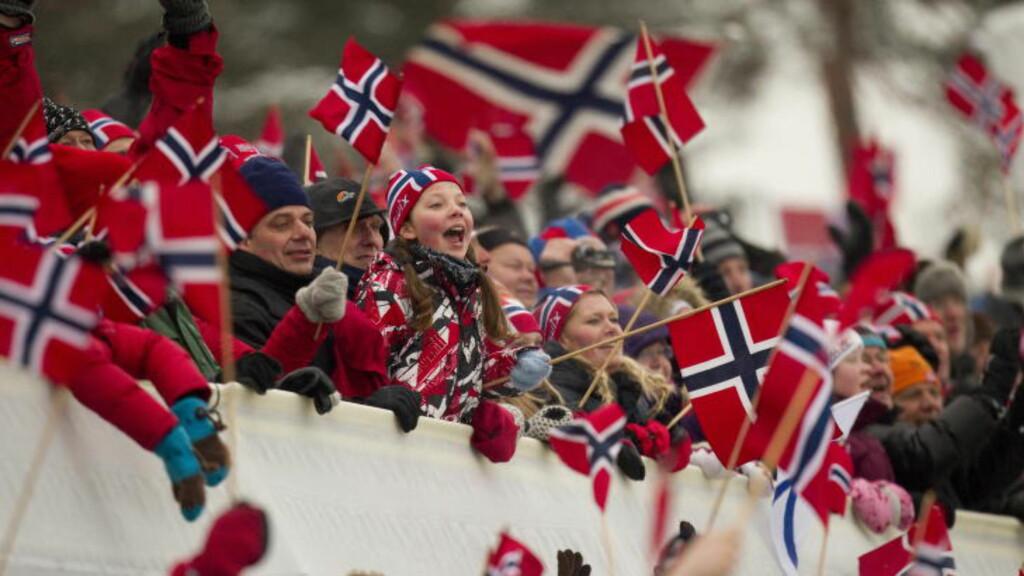 VÅR LEK:  Ingen ting er mer populært på TV eller i nettavisene enn fortellinger om ski. FOTO: Morten Holm / Scanpix.