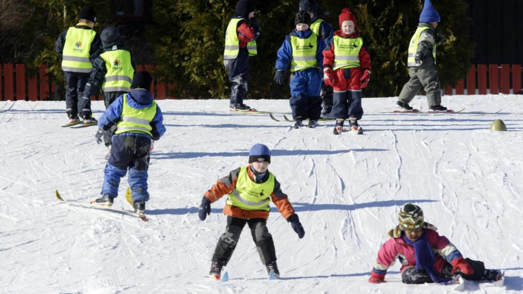 NORSK KULTUR:  Det er bra grunner for å åpne norsk skikultur slik at alle får sjansen til å være med. For å gjøre det er skidagen på skolene et fint tiltak.  FOTO: Espen Bratlie / Samfoto.