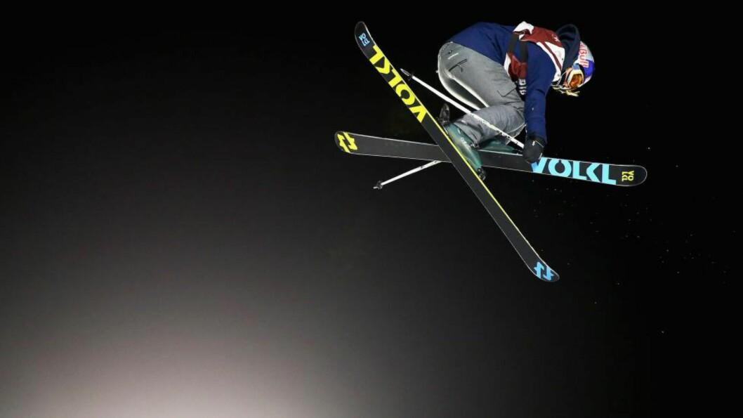 <strong>SUVEREN:</strong> Tiril Sjåstad Christiansen var suverent best under kvalifiseringen til lørdagens verdenscuprenn i slopestyle lørdag. Her er hun i aksjon under Big Air tidligere. Foto: Maddie Meyer/Getty Images/AFP/NTB Scanpix