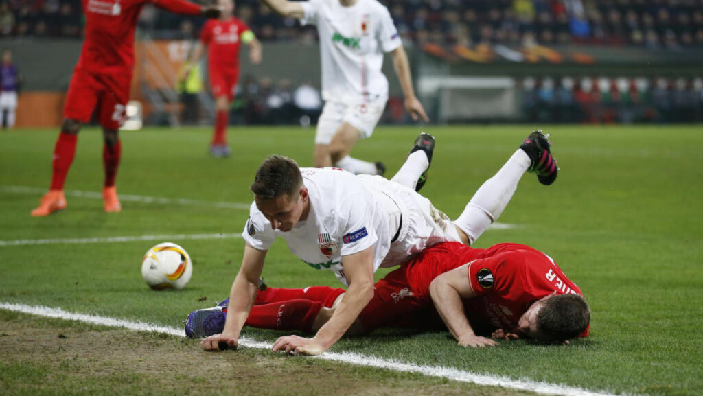 TAMT: Det ble ingen mål mellom Augsburg og Liverpool. Action Images via Reuters / Peter Cziborra Livepic EDITORIAL USE ONLY.