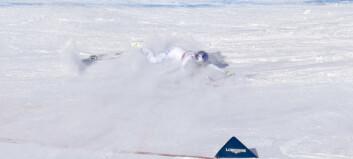 Storfavoritt Lindsey Vonn mistet skien i kvinnenes utforrenn