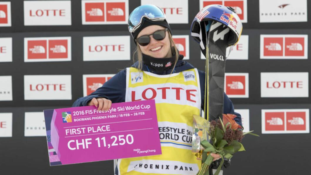 <strong>VANT:</strong>  Tiril Sjåstad Christiansen gikk til topps i slopestyle i Sør-Kora. Foto: Norges Skiforbund