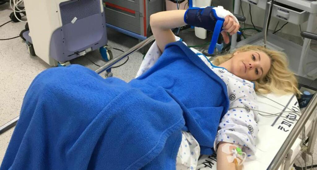 PÅ SYKEHUS I SØR-KOREA: Silje Noredal ble fraktet hit etter fallet under prøve-OL. Foto: Snowboardforbundet