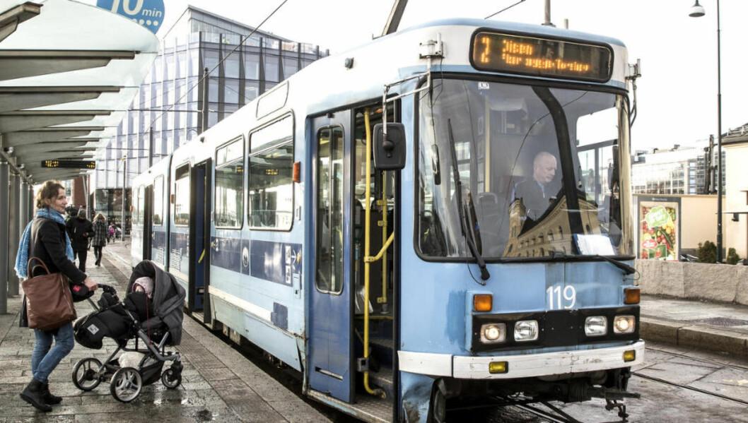 <strong>DYR:</strong> Kollektivtransport i Oslo er sjette dyrest i verden, ifølge Expert Market.  Foto: Lise Åserud / NTB scanpix