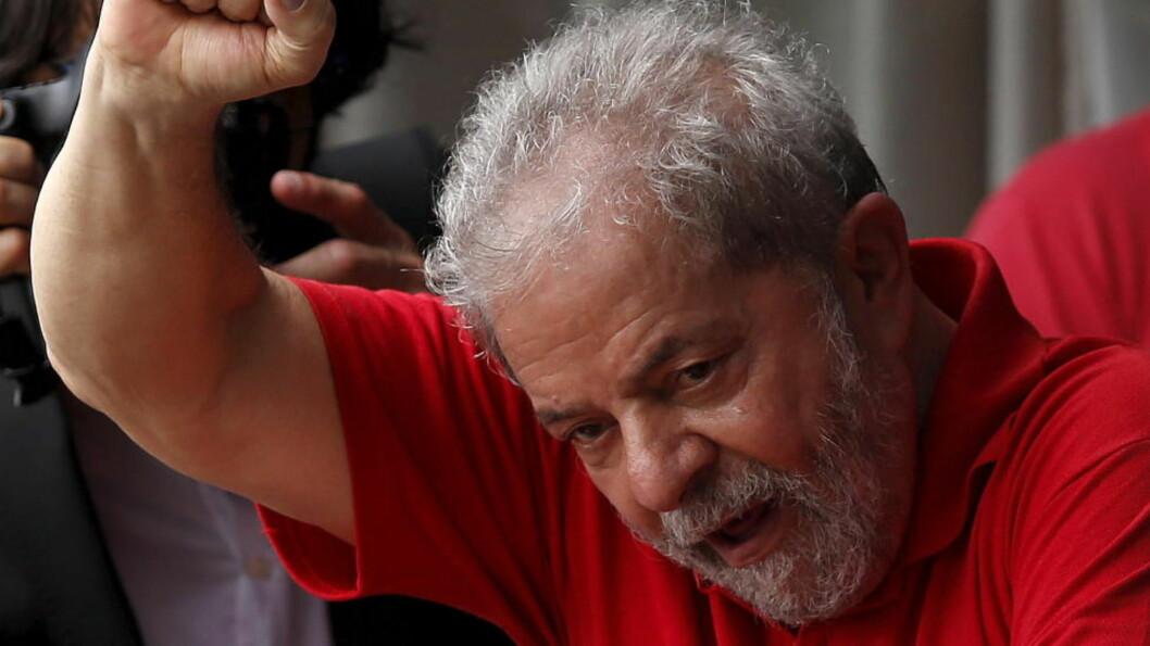 <strong>SIKTET:</strong> Påtalemyndigheten har bedt om en full, formell gransking av ekspresident Luiz Inácio Lula da Silvas rolle i Petrobras-saken i Brasil. Foto: Paulo Whitaker / Reuters / NTB scanpix