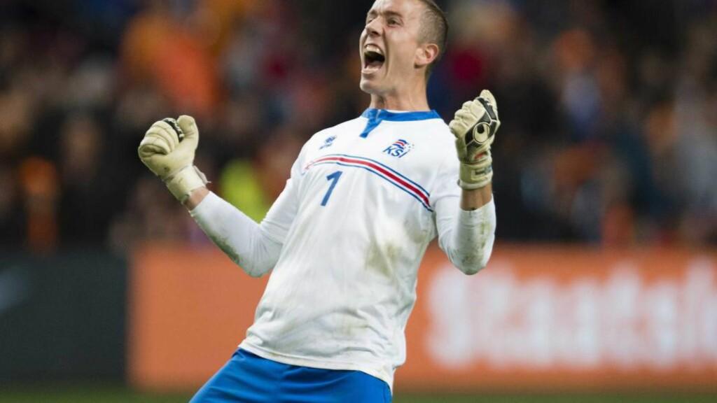 EM-KEEPER TIL GLIMT:   Hannes Halldorsson er klar for Bodø/Glimt på lån fra NEC Nijmegen. Foto: EPA/JASPER RUHE/NTB SCANPIX.