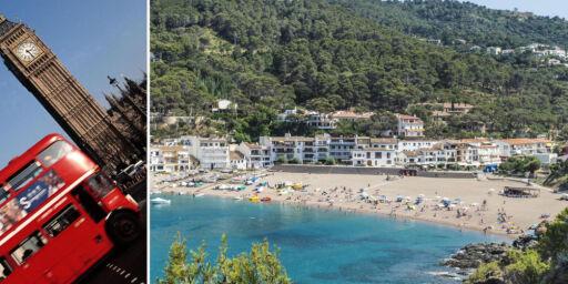 image: Så mye dyrere blir ferien din i USA, Storbritannia, Spania og Hellas