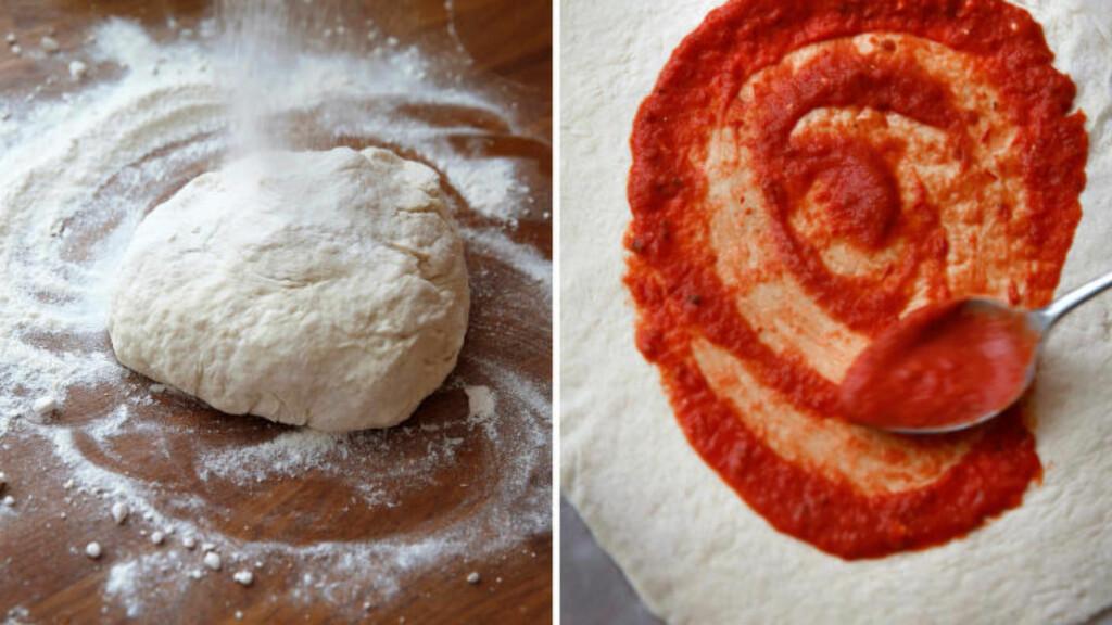 GOD PÅ BUNN: Ekte italiensk pizza fra Napoli har ganske tykk bunn, med lett minimalistisk fyll. Foto: METTE RANDEM