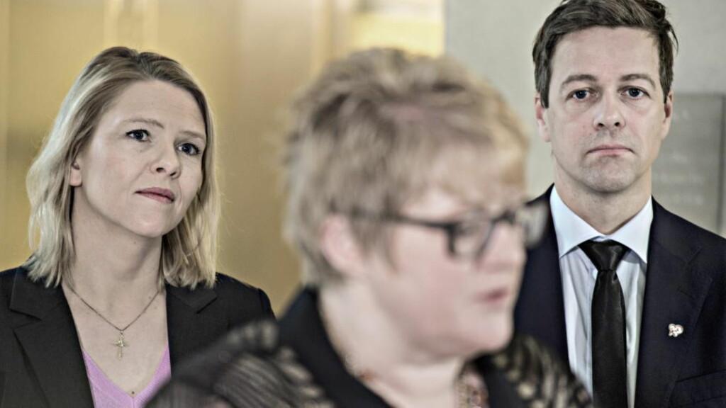OMSTRIDT: Sylvi Listhaugs innstrammingsforslag har fått krass kritikk fra flere hold i høringsrunden. Tirsdag legges forslagene fram i ekstraordinært statsråd, og det er knyttet spenning til om innspill fra forlikspartiene ved Trine Skei Grande (V) og Knut Arild Hareide (KrF), jurister og andre høringsinstanser er blitt tatt til følge. Foto: Hans Arne Vedlog  / Dagbladet