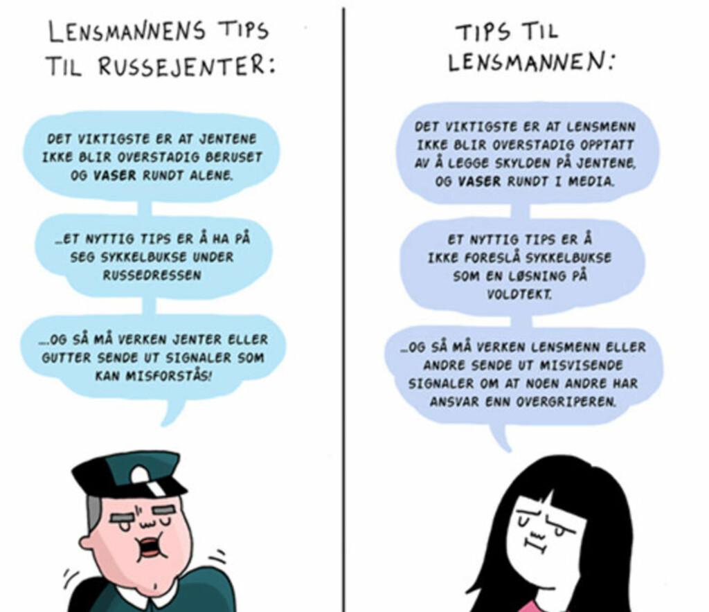 TIPS: Denne illustrasjonen publiserte Jenny Jordahl på Facebook. Illustrasjon: Jenny Jordahl