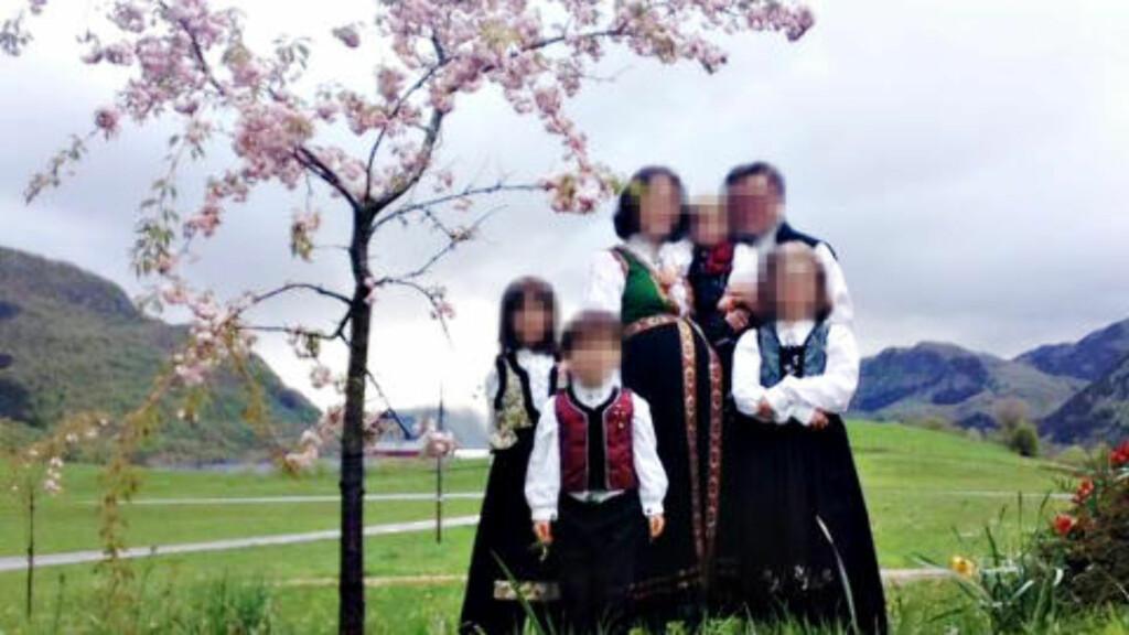 FRATATT BARNA: En norsk-rumensk familie i ei lita vestlandsbygd ble fratatt alle sine fem barn av barnevernet. Dagbladet har valgt å anonymisere familien av hensyn til barna. Saken har vekket voldsomt sinne og engasjement internasjonalt. Foto: Privat