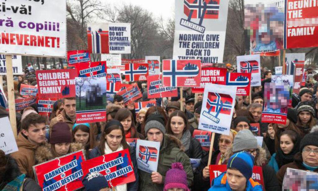 image: Norsk-rumensk familie ble fratatt alle sine fem barn: I dag demonstreres det mot norsk barnevern i 63 byer i 20 land