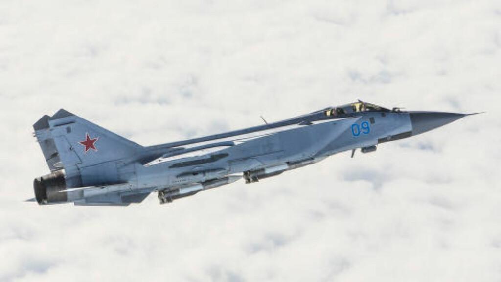 MIG-JAGER: Flytypen MIG-31 er en av russernes mest brukte jagerfly og har kallenavnet «Foxhound». Foto: Forsvaret
