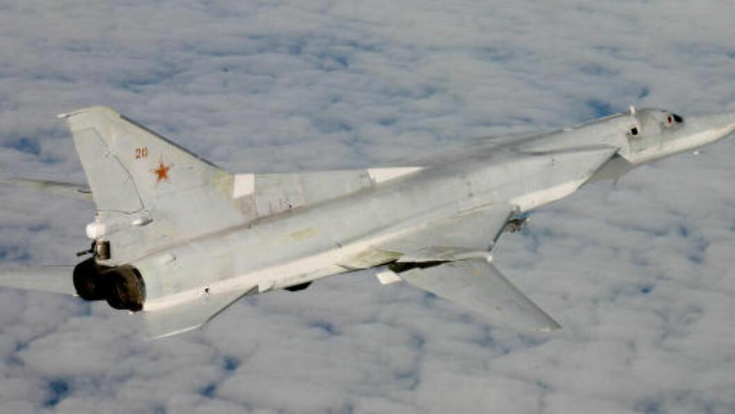 <strong>BOMBEFLY:</strong> Et bilde av et Tupolev Tu-22M, Nato-kallenavn «Backfire». Foto: Forsvaret