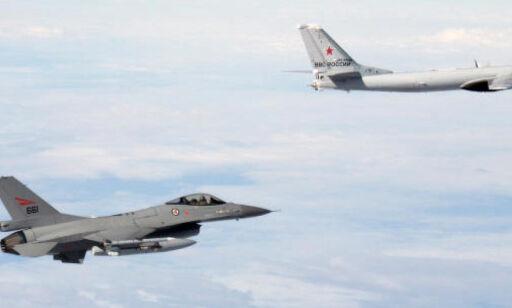 image: Hvert år rykker Forsvaret ut til titalls russiske fly. Her er oversikten