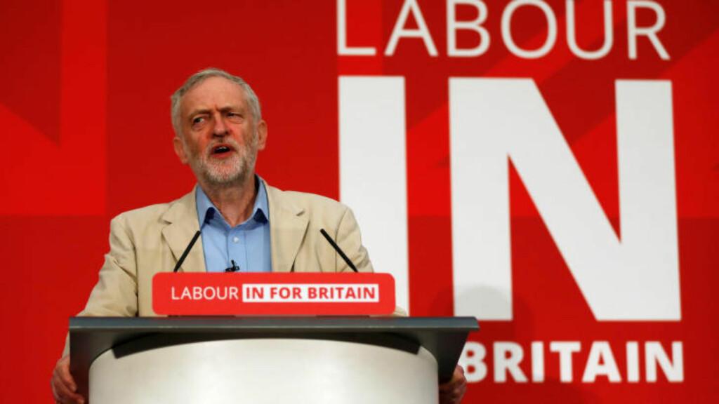 FÅR BÅDE ROS OG KJEFT:  Jeremy Corbyn ledet komitéen som sa nei til sponsing fra McDonald's. REUTERS/Stefan Wermuth