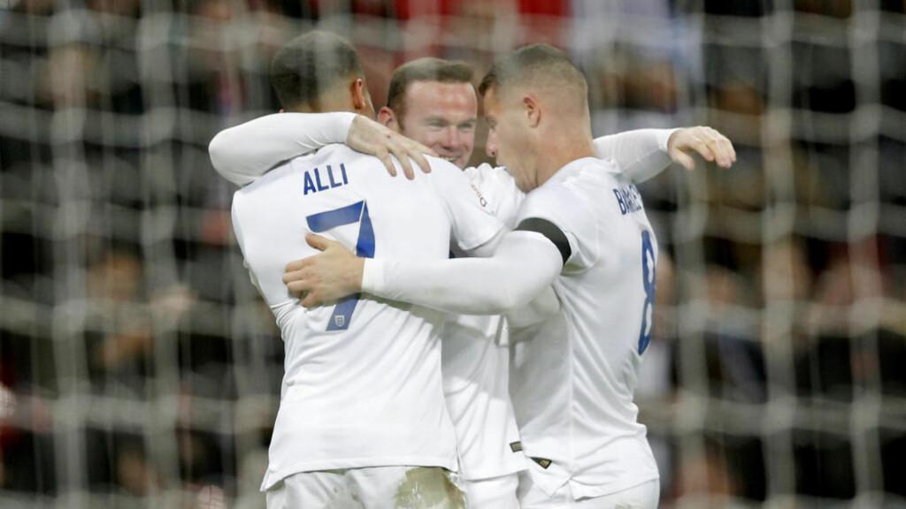 NUMMER 51: Wayne Rooney scoret sitt landslagsmål nummer 51 i kampen mot Frankrike tirsdag kveld. Foto: Reuters / Carl Recine