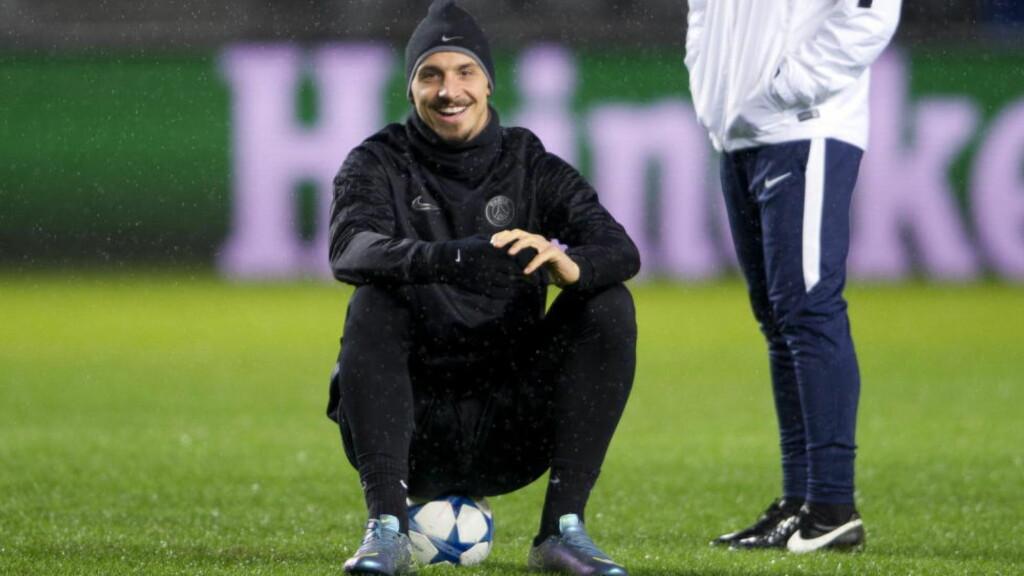 BACK IN TOWN: Zlatan Ibrahimovic var blid og i strålende humør på Swedbak Stadion i Malmö i går. Kveldens møte med moderklubben blir noe helt spesielt for både Zlatan og hele byen.