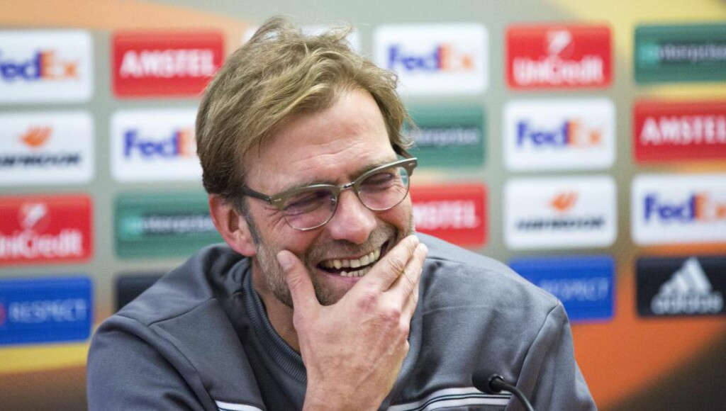 OFFENSIV: Jürgen Klopp har hatt en god start som manager for Liverpool. I kveld møter laget hans Bordeaux i Europa League. Foto: Paul Greenwood / BPI / REX Shutterstock / NTB Scanpix