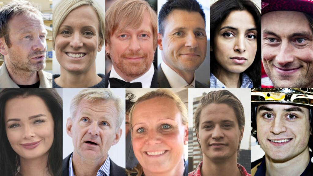11 KANDIDATER: Dagbladet skal kåre årets navn, stem på din kandidat. Foto: Dagbladet og NTB Scanpix