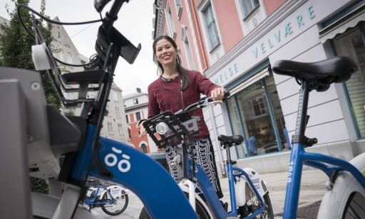 SYKLER: Byråd for  miljø og samferdsel i Oslo, Lan Marie Nguyen Berg, svarer på kritikken fra Sylvi Listhaug (Frp). Foto: Øistein Norum Monsen / Dagbladet