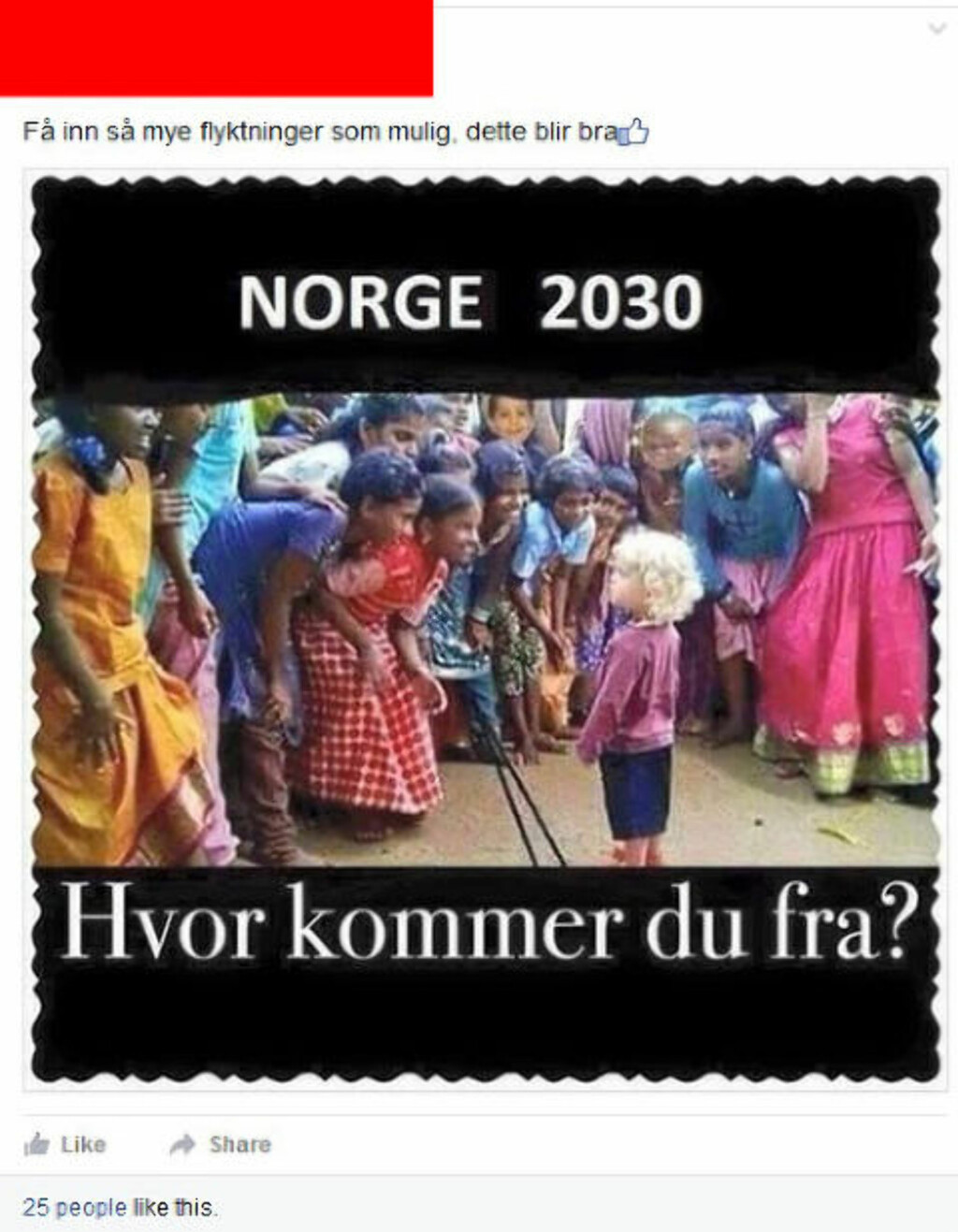 FACEBOOK-POST:  Denne posten er fra 19. september.