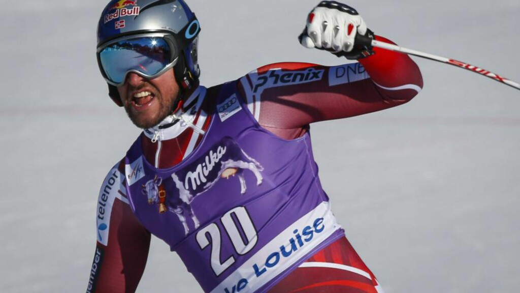 TO PÅ RAD: Aksel Lund Svindal har vunnet to på rad i Lake Louise. Foto: Jeff McIntosh/The Canadian Press/AP