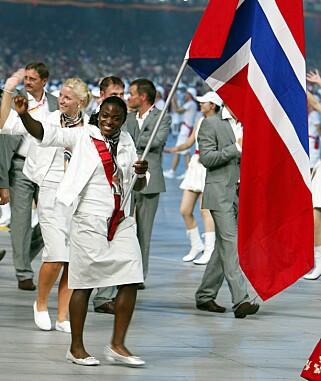 PROFILERT: Ruth Kasirye har vært i vektløftereliten i mange år. Hun var norsk flaggbærer under OL i Beijing.Foto: Heiko Junge / SCANPIX