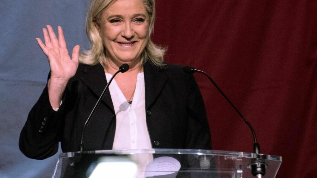 <strong>VALG:</strong>  Marine Le Pen og hennes høyre populistiske Nasjonal Front er klar vinner av første valgomgang i regionvalget i Frankrike.Foto: Denis Charlet, AFP