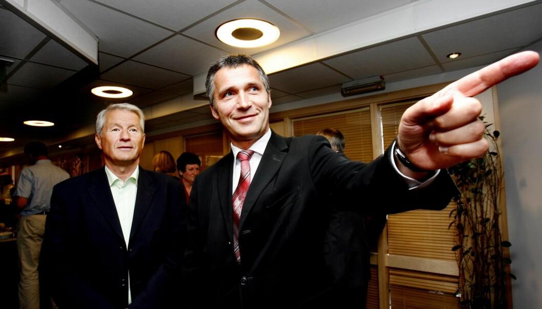 <strong>STRID:</strong> Dei gamle rivalane i det norske sosialdemokratiet, Thorbjørn Jagland og Jens Stoltenberg, har i opphøgd utlendighet sannelig klart å løfta striden opp på eit høgare sivilisatorisk nivå.