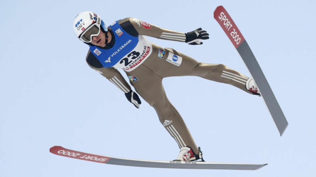 SENASJON: Joachim Hauer slo til med en svært overraskende 3. plass i dagens verdenscuprenn. Foto: Cornelius Poppe / NTB scanpix