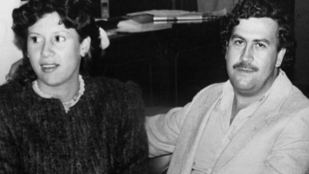 <strong>DEN GANG DA:</strong> Pablo Escobar avbildet med sin 11 år yngre kone, María Victoria, i 1983. Foto: Reuters / NTB Scanpix