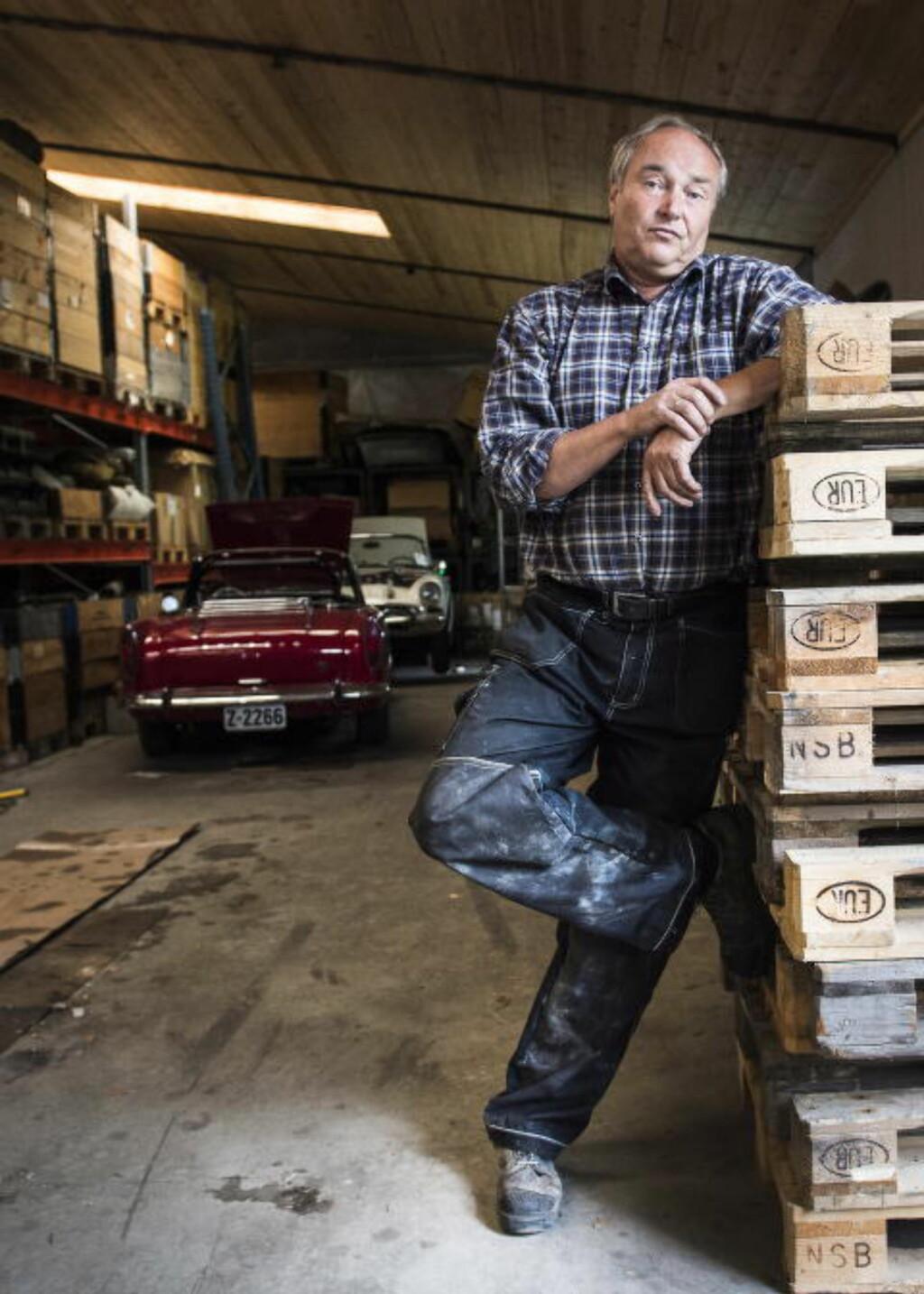 AGENTEN: Harald Wærpen (61) var Andrew Jacksons agent i Norge. Han var tungt involvert i beltevognhandelen til Sudan, og sier vognene Forsvaret solgte var «klar til strid». Foto: Lars Eivind Bones / Dagbladet