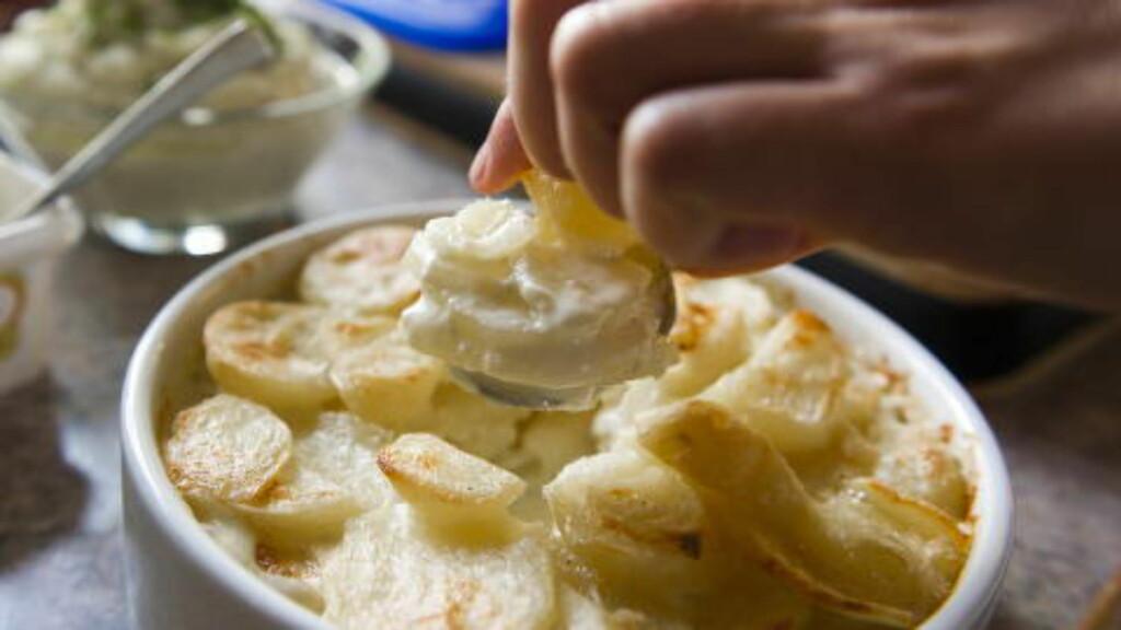 FLØTE: Da Ina-Janine Johnsen la ut fløtegratinerte poteter på bloggen tok det helt av. Foto: HÅKON EIKESDAL