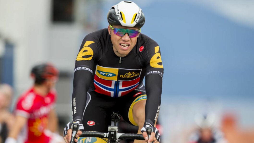 <strong>IMPONERTE:</strong> Edvald Boasson Hagen på pallen igjen. Foto: Vegard Wivestad Grøtt / NTB scanpix