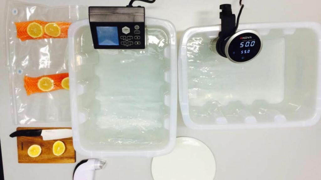 SOUS VIDE: Råvarene vakuumpakkes og legges i temperaturregulerte vannbad. Det er også den beste måten å lage ribbe på, skal vi tro Hobbykokken. Arkivfoto: ELISABETH DALSEG