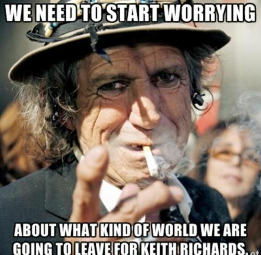 MEME: Keith Richards meget seige konstitusjon har gjort ham til et internett-meme.