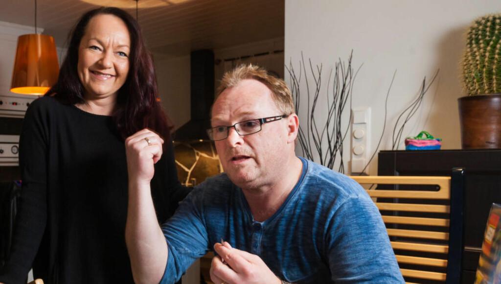 BRUKTE ULOVLIG SELSKAP: Frp-ekteparet Per og Line Miriam Sandberg har i over ett år brukt et selskap som ikke har lov til å selge renholdstjenester til å vaske huset i Lenvik kommune i Troms. Foto: MARIUS FISKUM/DAGBLADET