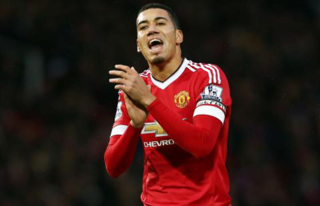 STOPPER: Chris Smalling. Foto: Matt West/BPI/NTB Scanpix