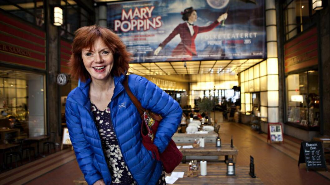 <strong>PREMIEREKLAR:</strong> Mari Maurstad skal blant annet spille den fæle husholdersken Mrs. Brill og ha  rollen som Bird Woman i nyoppsetningen av «Mary Poppins». Foto: ANDERS GRØNNEBERG