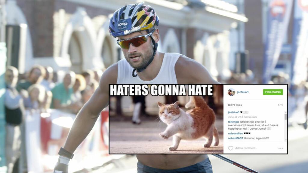 INSTAGRAM-MELDING: «Haters gonna hate». Foto: NTB Scanpix/Skjermdump Instagram