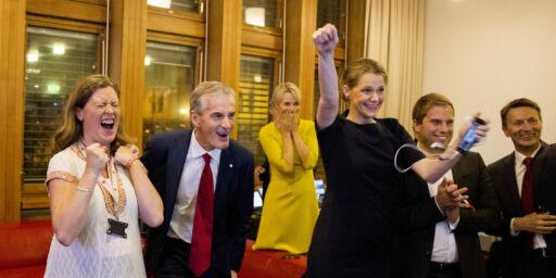 image: Her jubler Arbeiderpartiet for den første prognosen