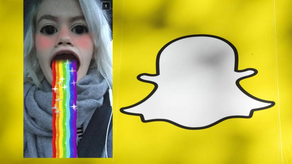 ANIMASJONSMORO: Fra i dag finnes det flere nye oppdateringer i bildedelingsappen Snapchat. Foto: NTB Scanpix, Privat