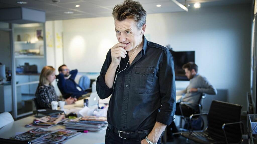 ET PROGRAM BLIR TIL: Fredrik Skavlan har pendlet mellom Norge og Sverige siden 2009. Nå har han flyttet hjem til Norge og kollegaene i produksjonsselskapet i Monkberry. Foto: Benjamin A. Ward / Dagbladet
