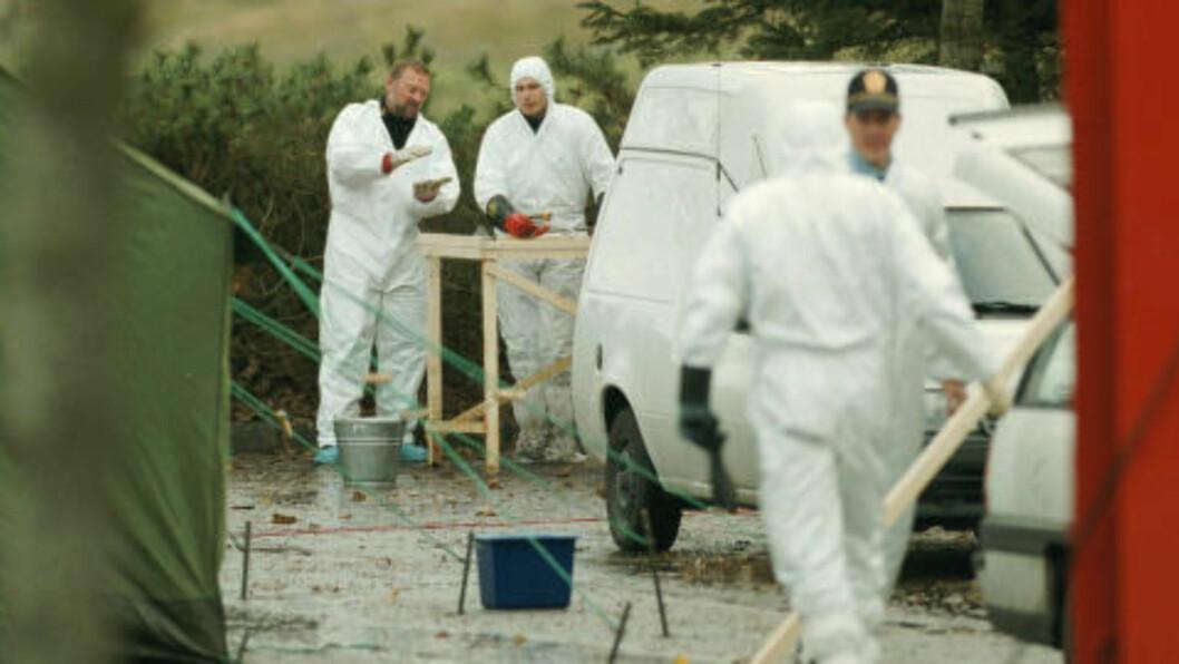 <strong> FUNNSTED:</strong>   Her ble Tina Jørgensen funnet død 26. oktober 2000. Siden den gang har drapet forblitt en uløst drapsgåte. Nå, 15 år senere, har politiet bekreftet at de har pågrepet og siktet to menn i saken. Foto: Alf Ove Hansen / SCANPIX