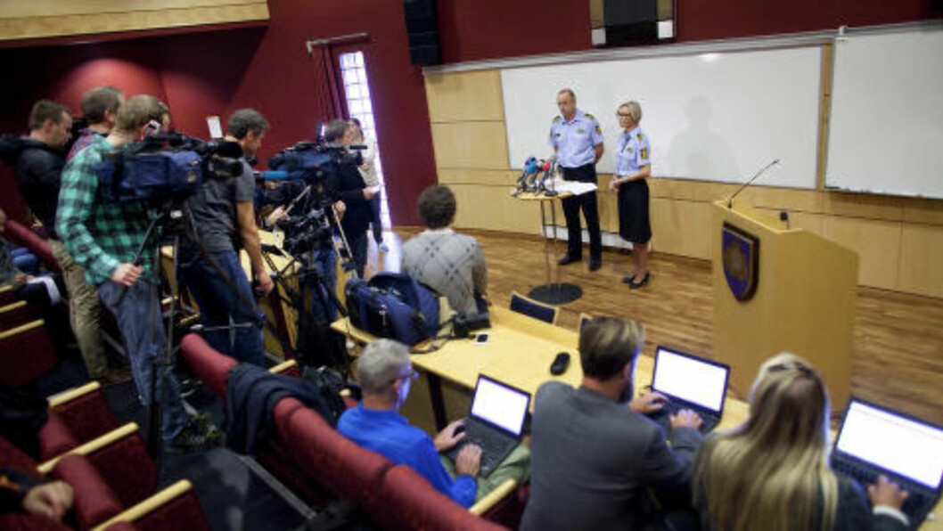 <strong>PÅGRIPELSE ETTER 15 ÅR:</strong> Politiet i Stavanger innkalte i går til pressekonferanse, da de hadde pågrepet en 36-åring for det 15 år gamle drapet, onsdag. Seinere på kvelden innkalte de til nok en pressekonferanse, da de hadde pågrepet ytterligere tre menn i samme alder. Foto: Tomas Nilsen / NTB Scanpix